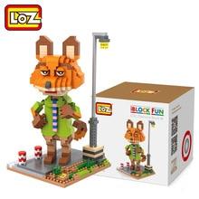 Diamond Blocks LOZ Zootopia Judy Nick Benjamin Flash Animals Model Building Figures Blocks Bricks kids toys for children gift