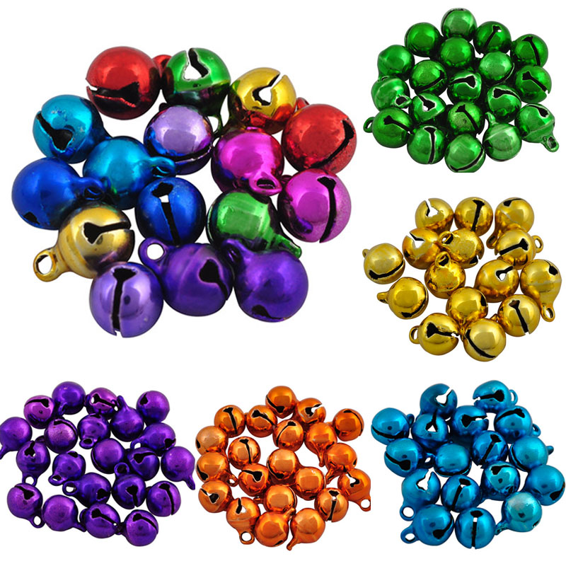 Sale 9*6mm Iron Loose Beads Small Jingle Bells Merry Xmas Christmas Tree Decoration Ornament Home Free Shipping 40pcs/lot ly