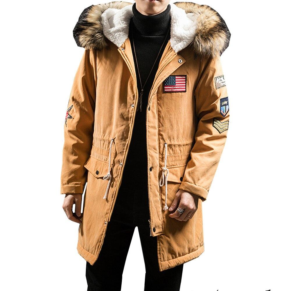 2019 New Fashion Hooded Winter Jacket Men Thick Warm Fur Collar   Parkas   Man Coat Outerwear Zipper Jackets Male   Parka   Coats 4XL5XL