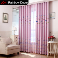 JRD Kids Cartoon Fish Blackout Curtain Sheer Window Curtains Baby Room Home Decor For Living Room