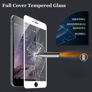 Image 2 - フルカバースクリーンプロテクター強化ガラス iphone 6 6 S プラス 6 プラス 7 8 プラス X 5 S SE 5 S XR XS 最大 2018 前面保護フィルム