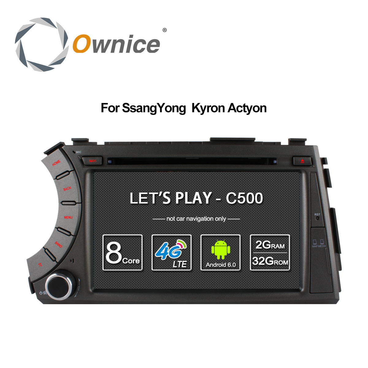 Ownice C500 4G SIM LTE Android 6.0 Octa 8 Core car dvd gps player for ssangyong Kyron Actyon 4G Wifi BT radio 2GB RAM 32GB ROM ownice c500 g10 octa core 2gb ram 32g rom android car dvd 8 1 gps for mazda 6 summit 2009 2015 wifi 4g lte radio dab dvr
