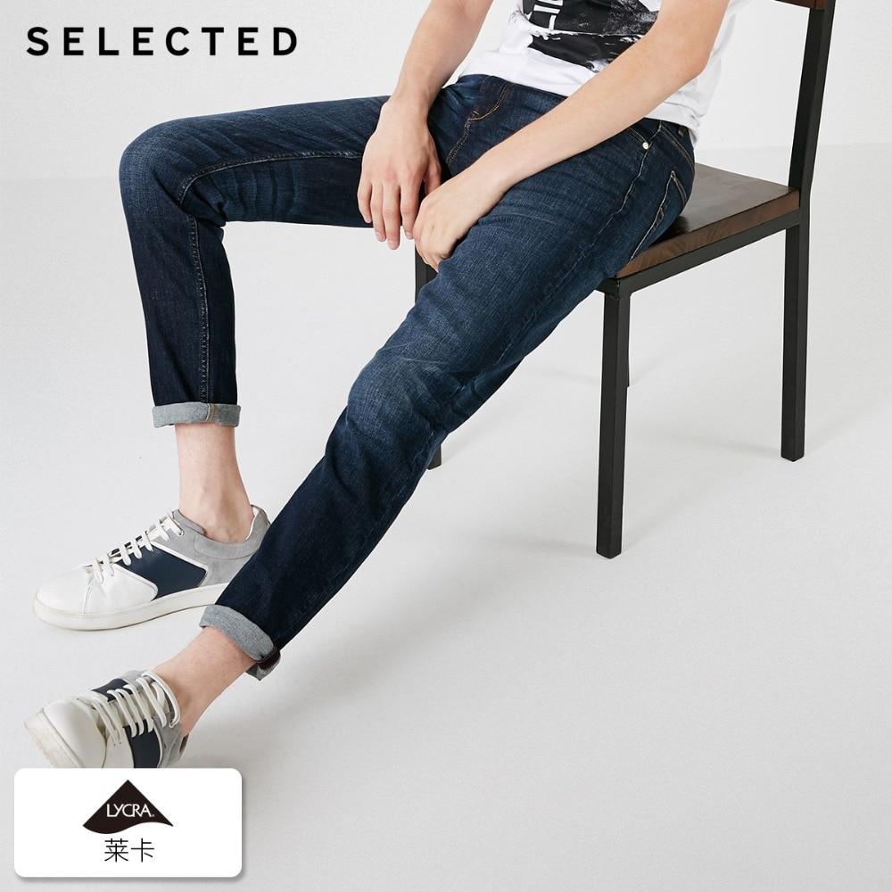 SELECTED Men's Autumn & Winter Lycra Stretch Fading Slim Fit   Jeans   D|418332531