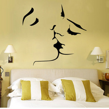 Home Bedroom Living Room Wall Decoration Individuality Creativity Lovers Kissing Stickers DIY Removable