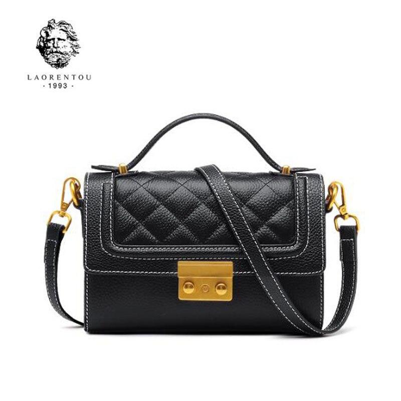 LAORENTOU Brand handbags Fashion Shoulder Messenger Bag 2018 new fashion small square package handbag