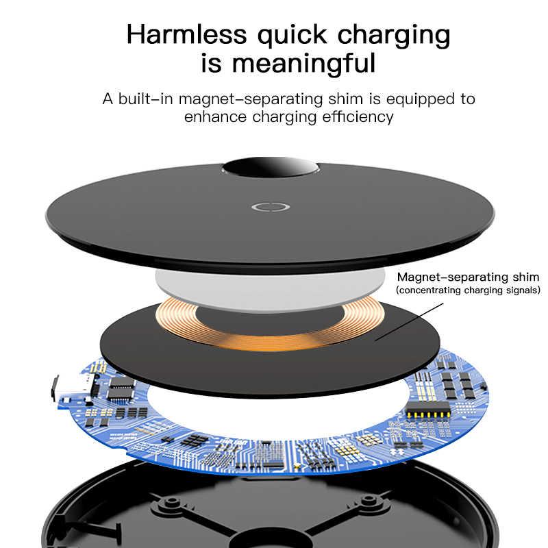 Baseus LED Qi cargador inalámbrico para iPhone 11 Pro Xs Max X 10W almohadilla de carga inalámbrica rápida para samsung S10 S9 Xiaomi mi 9