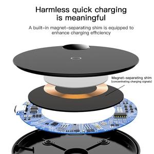 Image 4 - Baseus cargador inalámbrico LED Qi para iPhone, 11 Pro, Xs, Max, X, 10W, almohadilla de carga inalámbrica rápida sin cables para Samsung S10, S9, Xiaomi MI 9