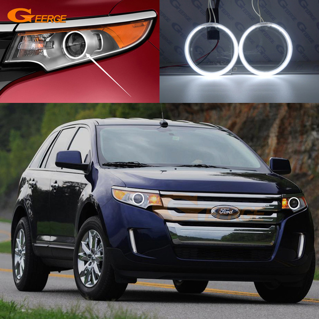 For Ford Edge   Excellent Ultra Bright Headlight Illumination Ccfl Angel Eyes Halo