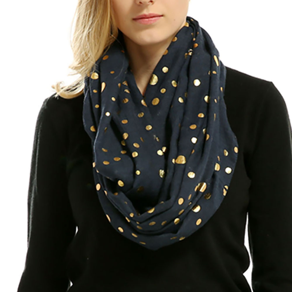 Lady Women Soft Warm Bronzing Dots Print Neck   Scarf     Wrap     Scarves   Muffler   Scarves   for Women Ladies Luxury Cotton Shawls Soft A9