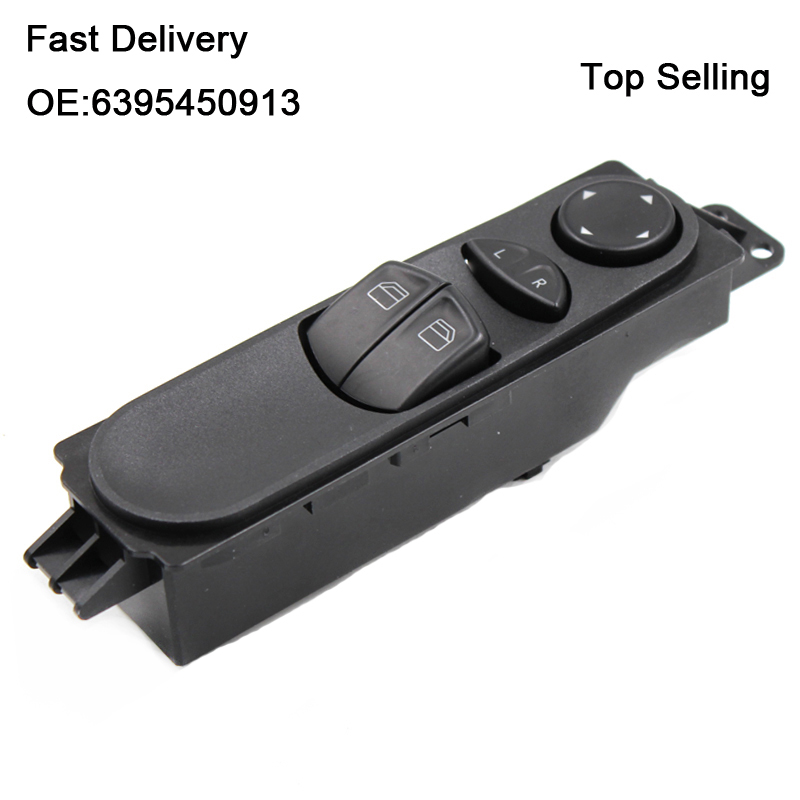YAOPEI 6395450913 7 Pin Power Master Window Switch For Mercedes -Benz W639 Vito Mixto Kasten 2003-2015 A6395450913