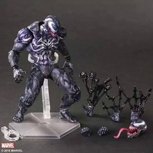 цена Play Arts  PlayArts KAI Spiderman Venom Marvel Universe Variant Action Figure Collection Toy figurine онлайн в 2017 году