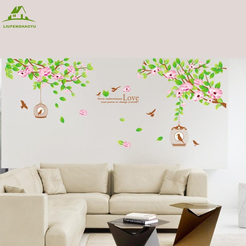 Love Family Tree Birds Diy Vinyl Wall Stickers Home Decor Art Decals Wallpaper Bedroom Sofa House