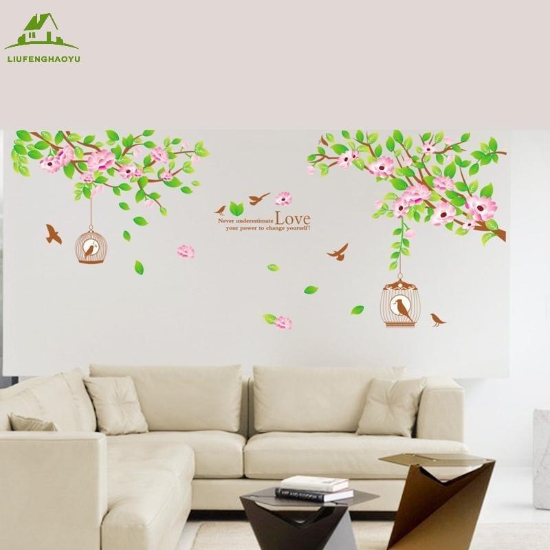 Love Family Tree Birds Diy Vinyl Wall Stickers Home Decor Art Decals Wallpaper Bedroom Sofa House