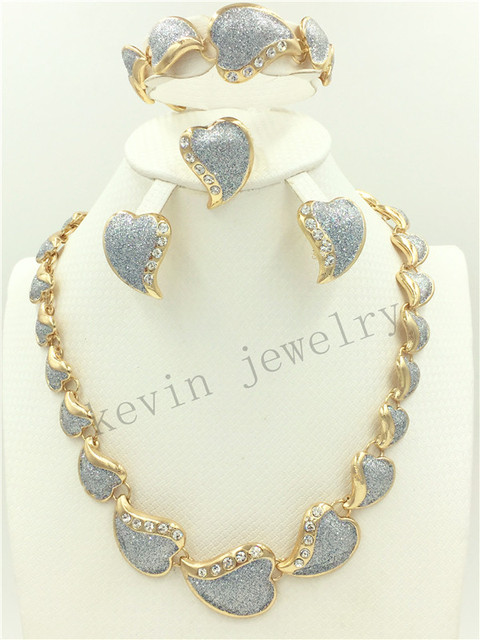 2016 Fashion Dubai Gold Plated Jewelry Sets Costume Big Jewelry Set