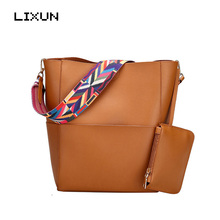 LIXUN Luxury Bucket Handbags Women Bags Designer Brand Famous Shoulder Bag Female Vintage Bag Leather Brown Crossbody Bags Bolsa