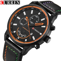 2016 Top Luxury Brand CURREN Men Sport Quartz Waches Men S Leather Strap Date Clock Male