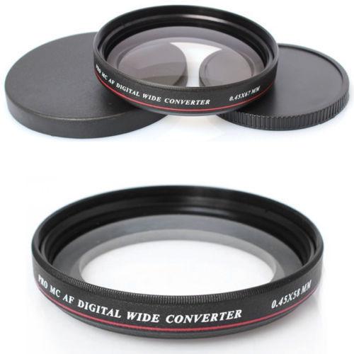 Prix pour ZOMEI Ultra Slim UV72 40.5mm 49mm 52mm 55mm 58mm 62mm 67mm 72mm 77mm 0.45x Angle Filtre Objectif pour Nikon Canon SLR caméra