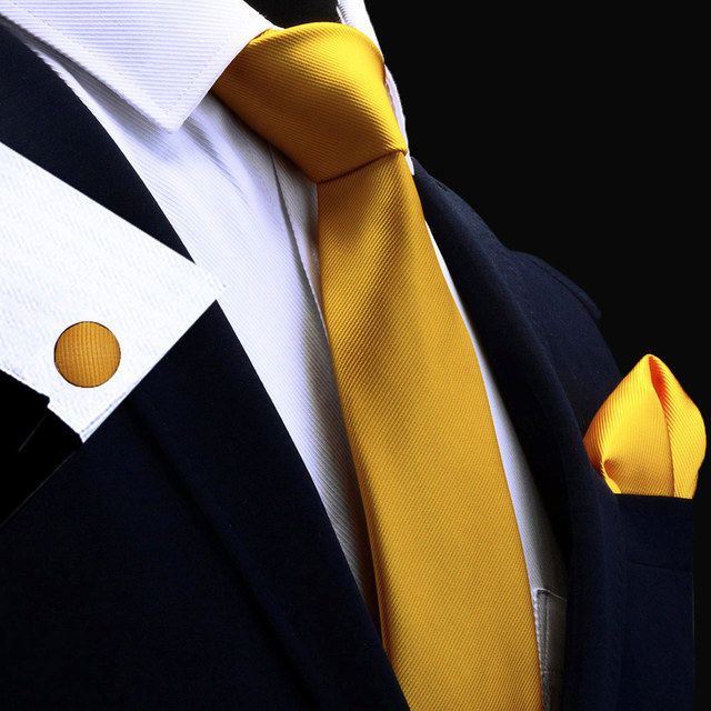 Nueva moda clásico corbata, pañuelo y gemelos de Seda verde