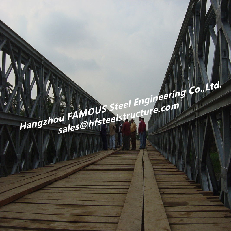 Durable Industrial Pre-engineered Steel Bridge Construction Galvanized Modular Steel Structure Bridge