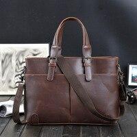 New business shoulder bag men's briefcase classic retro casual shoulder bag leisure Messenger bag