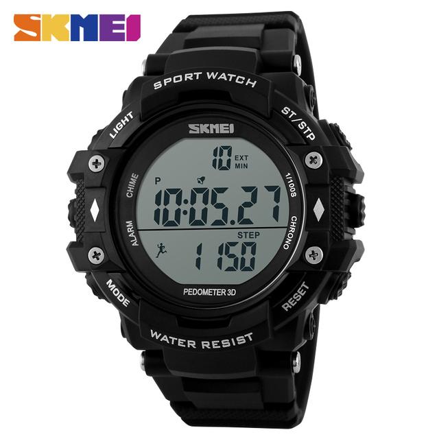 SKMEI Marca 1128 Homens Relógio Do Esporte Digitais À Prova D' Água Ao Ar Livre Display LCD Digital Pedômetro Cronógrafo Relógios relogio masculino