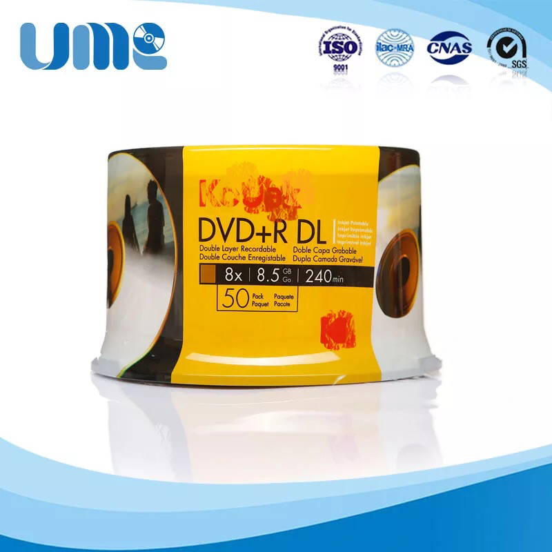 Wholesale 50 Discs 100% Authentic K-Brand Blank Printed 8.5 GB 8X DVD+R DL Discs