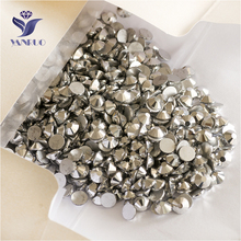 YANRUO 2058NoHF SS16 Light Chrome 1440Pcs Flat Back Non Hotfix Glass Stone Crystal Strass Nail Art Rhinestones