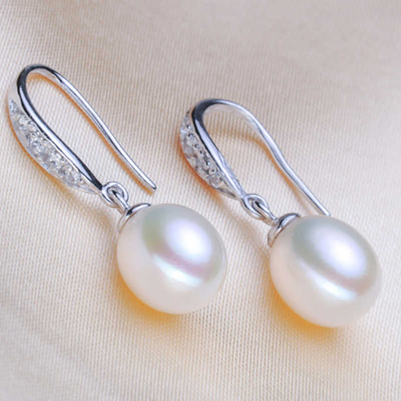 FENASY Conjuntos de Jóias de pérolas, venda 925 sterling silver jewelry sets fashon brincos natural pérola jóias para as mulheres com caixa de presente
