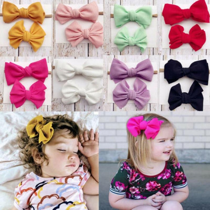 5//10Pcs Sweet Baby Newborn Infant Kids Girls Bow Bowknot Hair Clips Hairpin LD