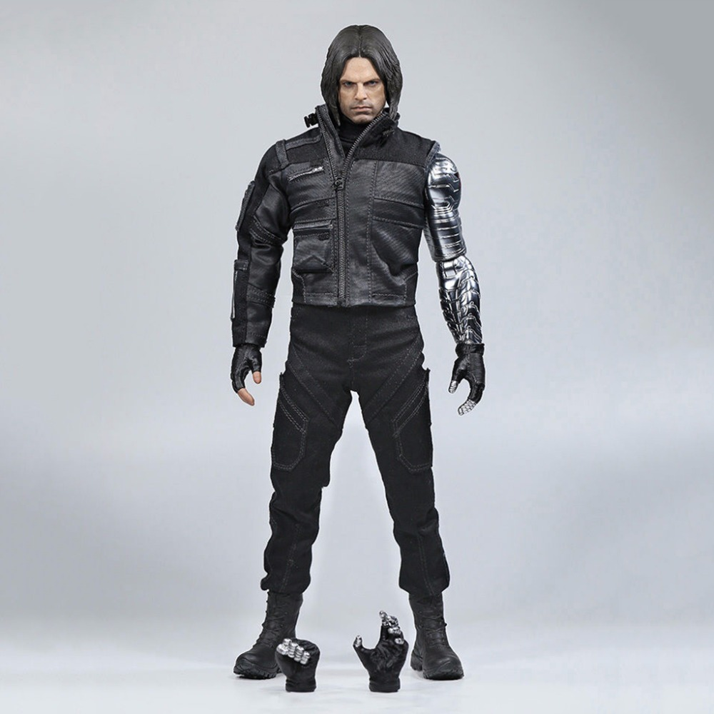 1/6 Winter Soldier Bucky Barnes Mechanical Arm Captain American Civil War Action Figures Gifts Collections civil war and american art