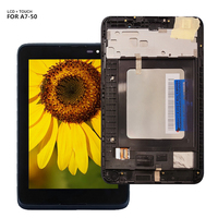 Para lenovo tab A7 50 a3500 A3500 F A3500 H display painel lcd combo touch screen sensor de vidro peças reposição|Painéis e LCDs p/ tablet|   -