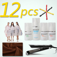 12 pz PROkeratin mini one set keratin treatment Salon cloth FAI DA TE cura dei capelli cheratina stiratura set di prodotti