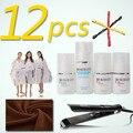 12 unids PROkeratin mini uno establece el tratamiento de queratina alisado del cabello cuidado del cabello Salon cloth DIY conjunto de productos