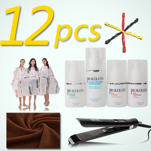 12pcs PROkeratin mini one set keratin treatment Salon cloth DIY hair care keratin hair straightening set products d angello morocco argan oil scalp for frizzy dry hair keratin repair treatment hair care keratin hair split ends conditioner