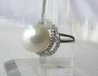 2247 round white south sea pearl ring