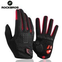ROCKBROS – gants de cyclisme pour écran tactile, coupe-vent, antichoc, pour vélo, vtt, GEL