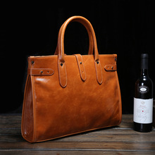 2016 new PU Leather men bags vintage business leather briefcase men's Briefcase men travel bags tote laptop bag
