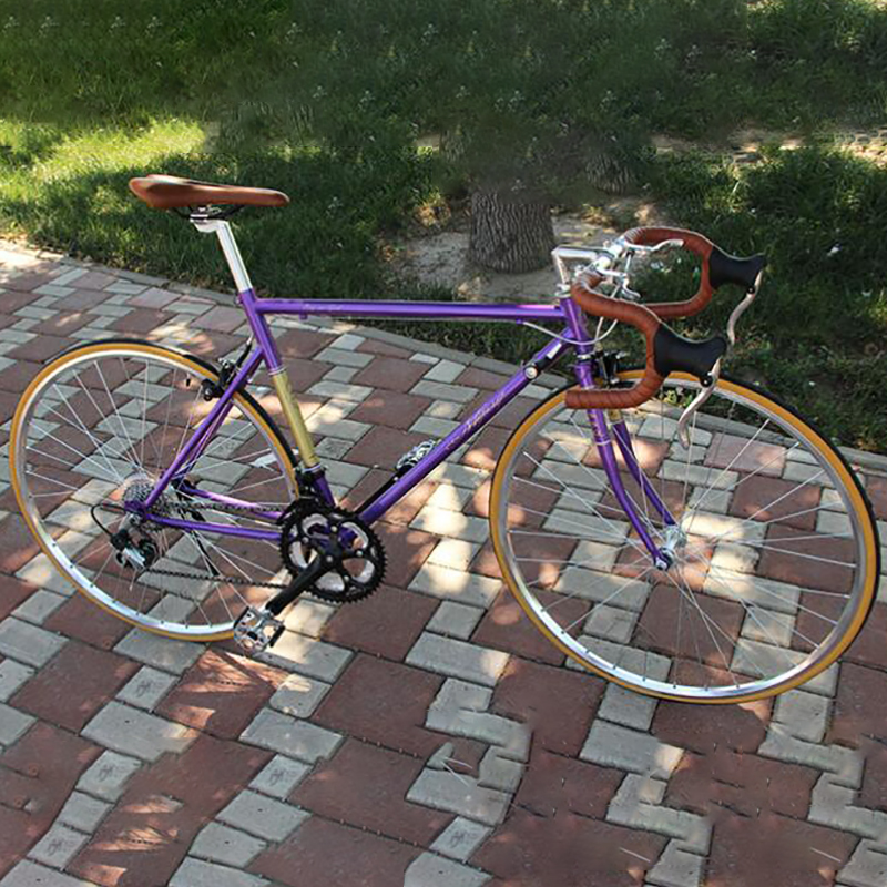 Road Bike Male 700 C 26  Speed Change Handlebar Hard Frame Double Disc Brake Retro Casual Commuting Racing Bicycle image