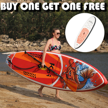 цена на Inflatable Stand Up Paddle Board Sup-Board Surfboard Kayak Surf with Backpack,leash,pump,waterproof bag,fin,buy one get one free