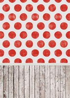 10ft Red polka dots vinyl photography backdrops digital cloth print for kids party photo studio backgrounds S 1045