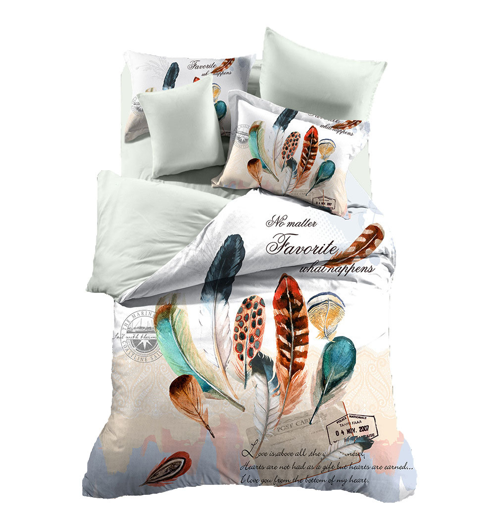 HOT SALE  Bedding set  Feather For Kid Teen Girl Bed Linen Duvet Cover Pillowcase Bed SheetHOT SALE  Bedding set  Feather For Kid Teen Girl Bed Linen Duvet Cover Pillowcase Bed Sheet
