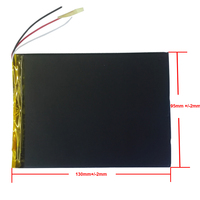 3 draden 9 10 inch grote capaciteit 3.7 V tablet batterij 6000 mah elk merk tablet universele oplaadbare lithium batterijen 3595130