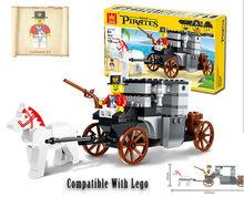 2016 New Wange Blocks Pirate Escape Carriage Plastic Model Kits Building Blocks Bricks Educational DIY Toys For Children 122PCS