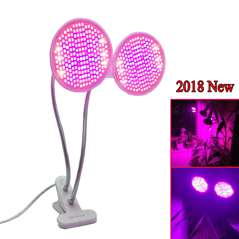 New Dual 400 LED Plant Grow Light UV IR Plant Bulb Lamp Flower Veg Growth Clip