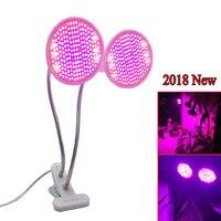 Neue Dual 400 LED Anlage Wachsen Licht UV IR Anlage Birne Lampe Blume Veg Wachstum Clip set Volle Spektrum Innen e27 anbau