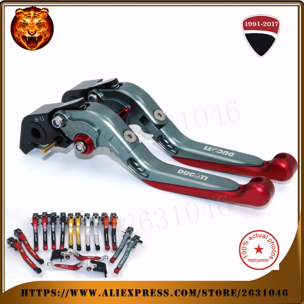 ФОТО  For DUCATI Multistrada 1200 /s streetfighter /s streetfighter 848   Motorcycle Adjustable Folding Extendable Brake Clutch Leve