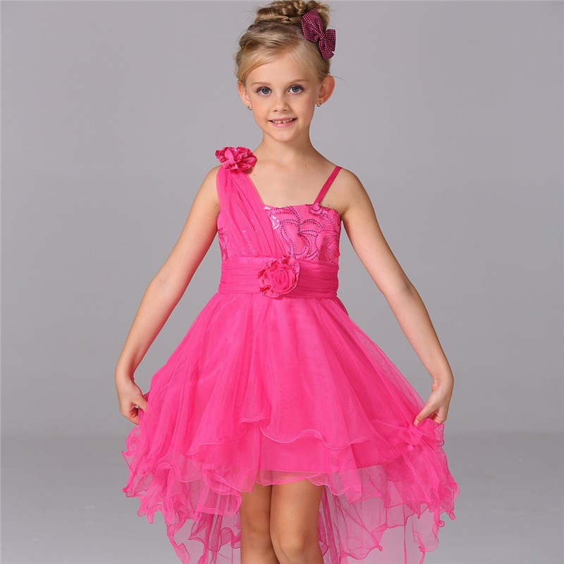 ФОТО Summer Clothes Flower Girls Dresses For Wedding Gowns Short  Kids Prom Dresses Fashion  Pageant Dresses for Little Girls
