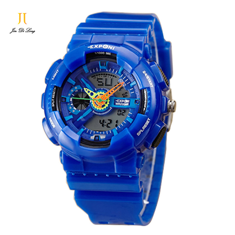 ФОТО Men's Sports Watch Waterproof Anion Multifunction Electronic Watches Student Mountaineering Digital Wristwatches