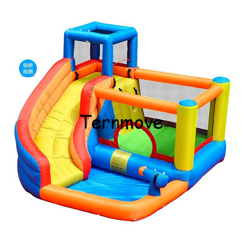 inflatable bouncy castle with water slide Mini Inflatable space jump castle House Backyard Indoor Jumping Bouncer with Slide commercial inflatable bounce castle large tree style children jumping bouncy castle with slide pvc tarpaulin inflatable bouncer