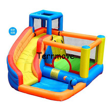 inflatable bouncy castle with water slide Mini Inflatable space jump castle House Backyard Indoor Jumping Bouncer with Slide